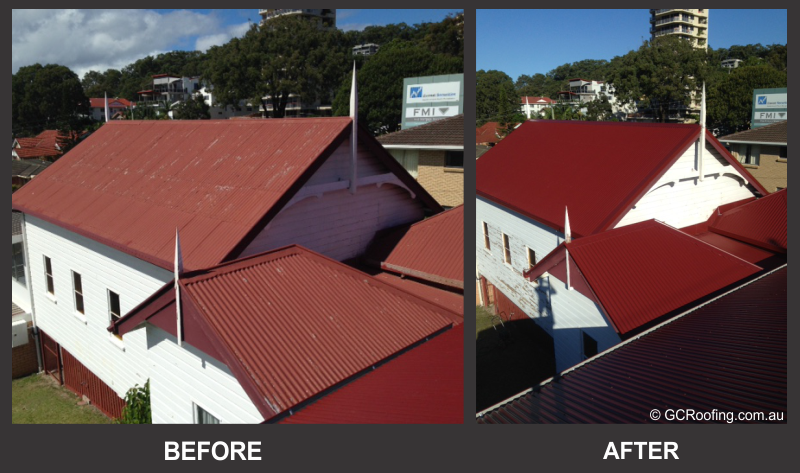 Colorbond Roof Replacement Before and After