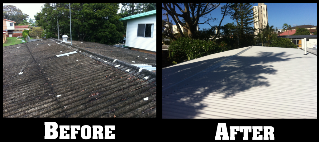 Gold Coast Metal Roofing Before and After