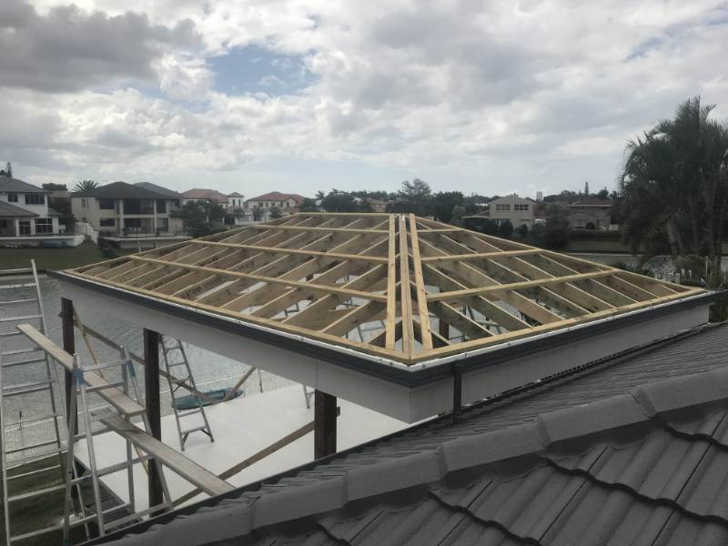 Metal roofing job Southport 2018